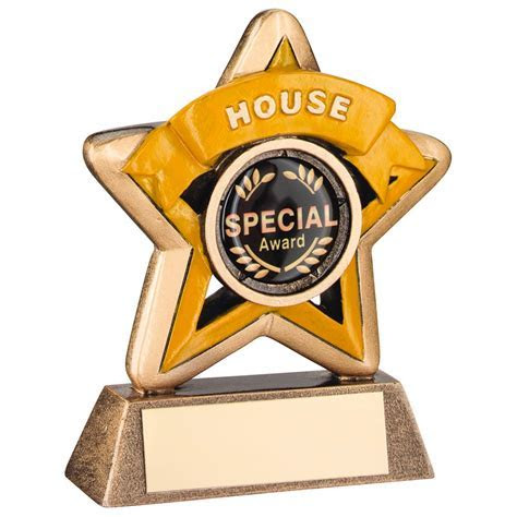 Mini Star Resin ?House? School Trophy ? 4 Colours ? RF400