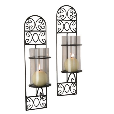 DanyaB Paisley Wall Sconce Candle Holder (Set of 2) | Wayfair