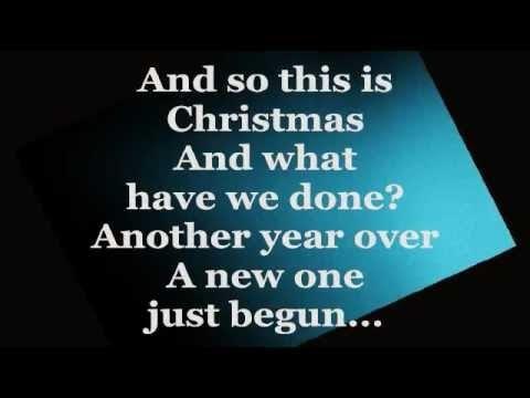 Happy Christmas War Is Over Lyrics Celine Dion