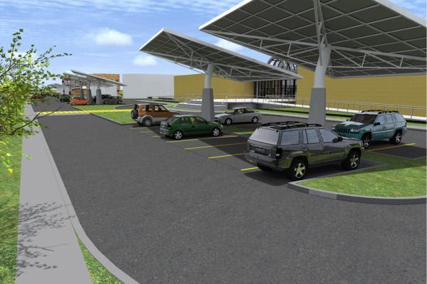 Cidade Universitária, na Ilha do Fundão, um estacionamento que vai gerar energia solar