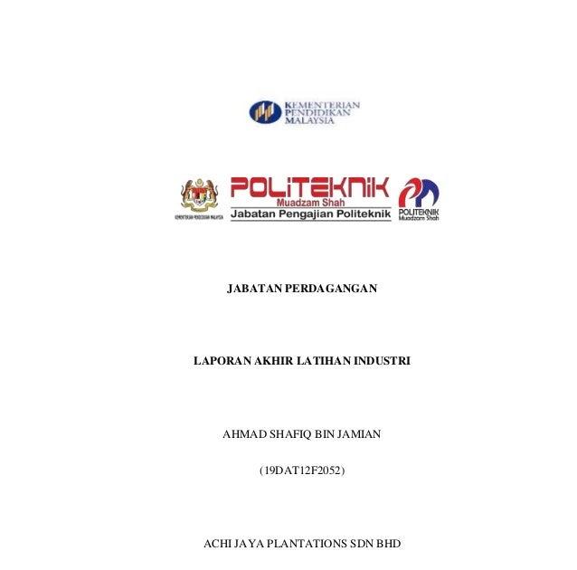 Contoh Laporan Latihan Industri Umt Hallow Keep Arts