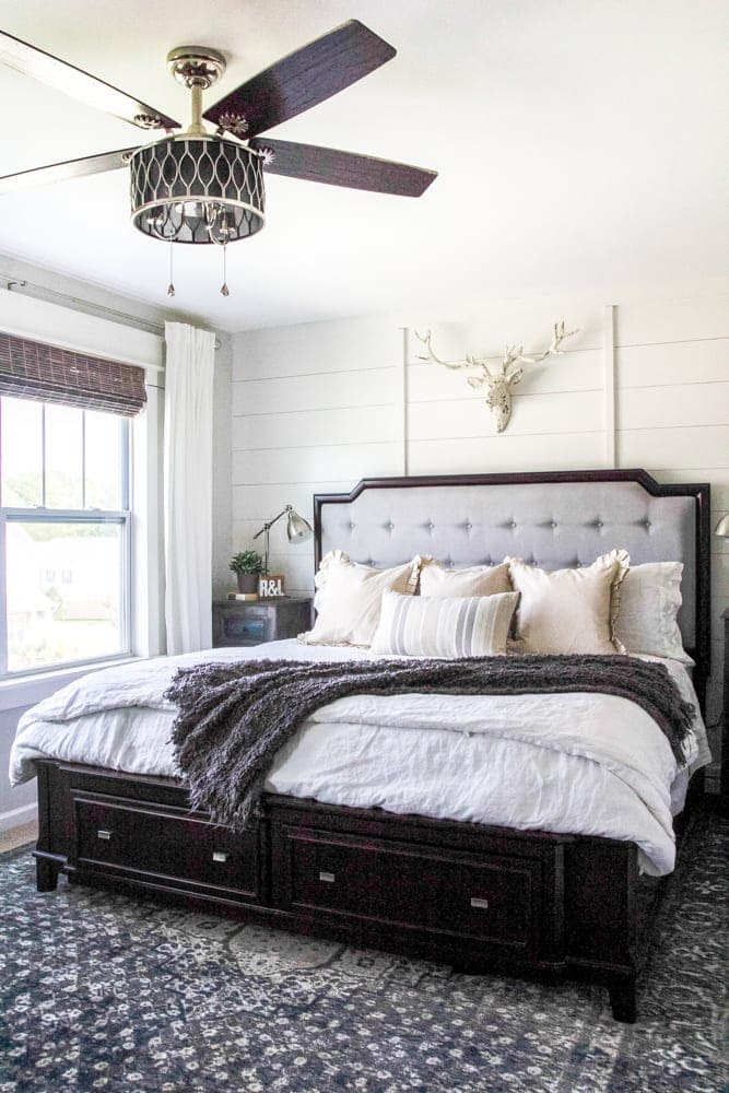 Rustic Modern Master Bedroom Reveal and Sources - Bless'er ...