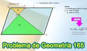 Problema de Geometría 165 (ESL): Paralelogramo, Trapecio, Diagonales, Triangulo, Área.
