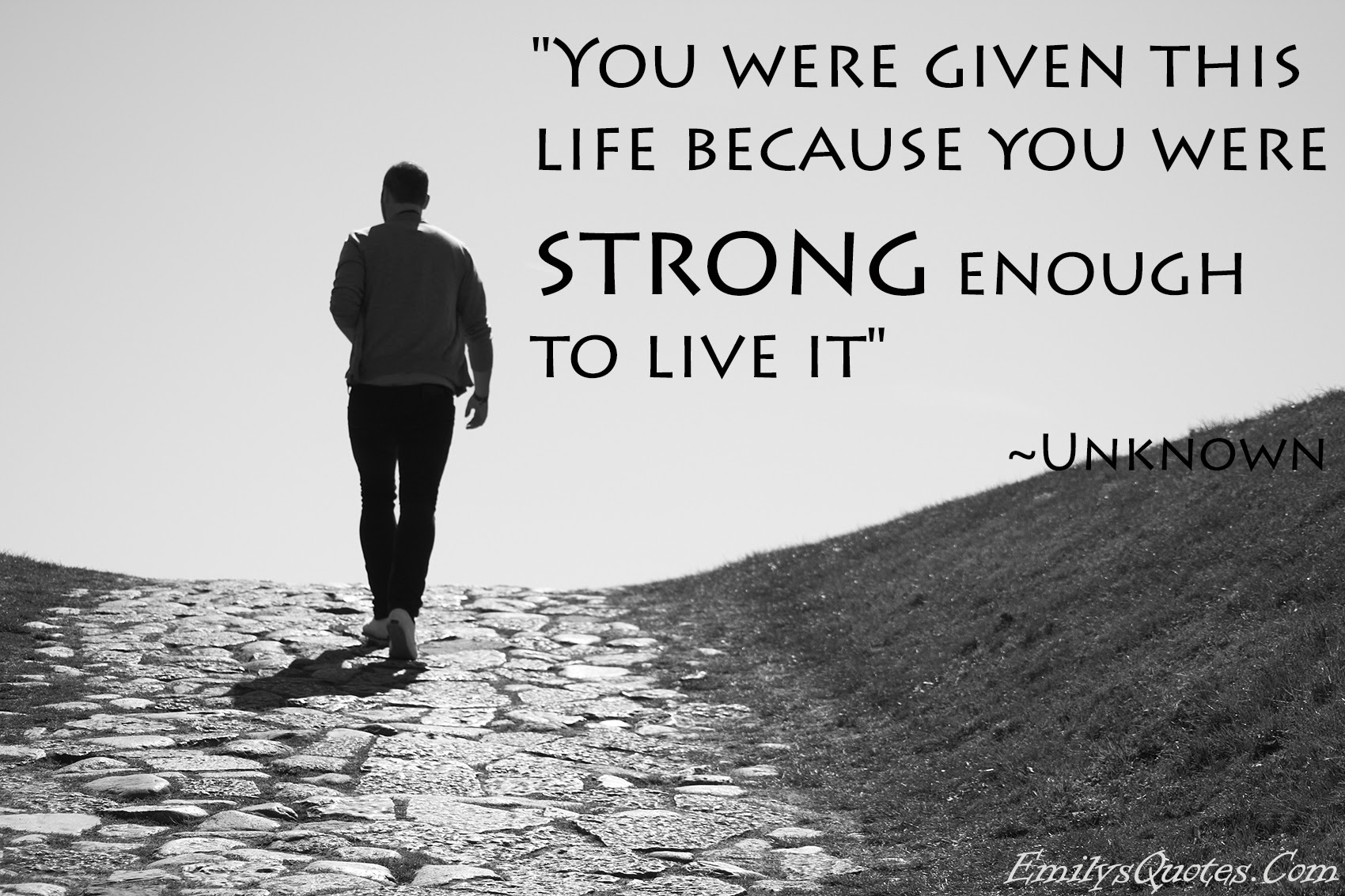 You Were Given This Life Because You Were Strong Enough To Live It