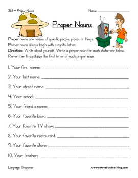Let's Have Fun with English: Proper Noun