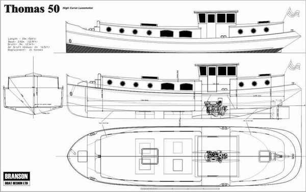 50/57/66ft Luxemotor Dutch Barge   Branson Boat Design Dutch Barges