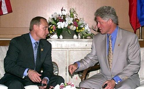 President Putin with US President Bill Clinton.