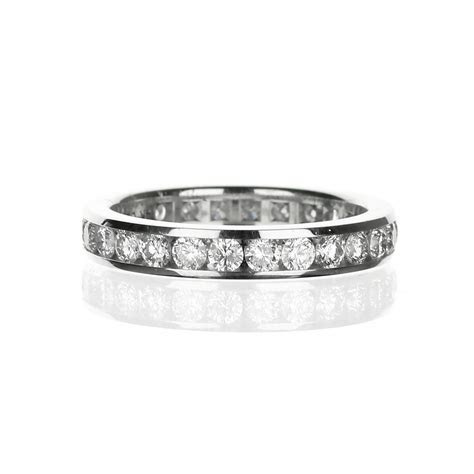 14 Karat White Gold Channel Set Wedding Band with 1.50