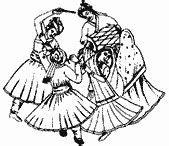 Ladies Sangeet & Musical Symbols for Printing of Wedding