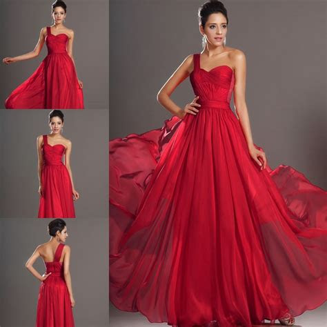 dark red  shoulder evening dresses bridesmaid dresses