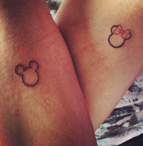 Mickey And Minnie Cute Tattoo Best Tattoo Design Ideas