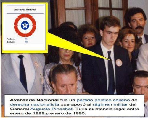 """El Ministro de Cultura @lcruzcoke fue miembro activo de """"Avanzada Nacional"""", partido fascista pro Pinochet.  Orígenes Avanzada Nacional fue fundado en  1984 por militantes del Movimiento de Acción Nacional (corriente  nacionalista formada por ex militantes del Partido Nacional) y por ex  miembros de Patria y Libertad. La escritura de Constitución del partido  se firmó el 15 de abril de 1987, el Servicio Electoral ordenó su  publicación en el Diario oficial el 29 de mayo de 1987.1 Finalmente, por  Resolución O-56 del 19 de enero de 1988, el Servicio Electoral  inscribió oficialmente el partido.  Avanzada  Nacional fue un movimiento fundado desde el interior del gobierno y  financiado por éste. fue de inspiraciòn nacionalista y sus  dirigentes provinieron de ese sector polìtico, pero en realidad fue  dirigido y manejado desde la CNI,  específicamente por el mayor Alvaro Corvalán Castilla, actualmente  condenado a presidio perpetuo por delitos contra los derechos humanos.   El padre del actual ministro (Carlos Cruz Coke) fue uno de sus primeros  dirigentes."""