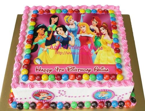Birthday Cake Edible Image Disney Princess Kek Harijadi