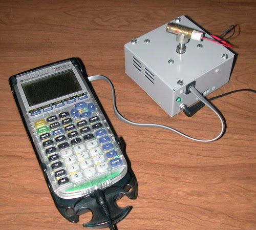 HOW TO - Connect a TI-83 to the internet & control a laser...   Make: