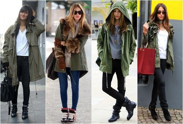 Resultado de imagem para como usar jaqueta verde militar