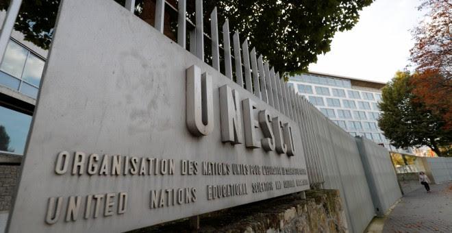 La entrada de la sede de la Unesco, en París. REUTERS/Philippe Wojazer