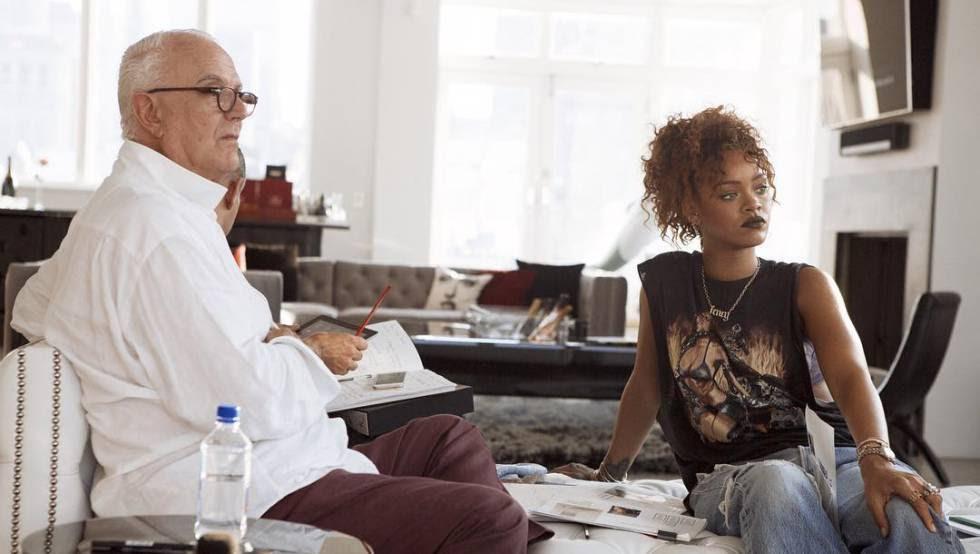 Manolo Blahnik y Rihanna