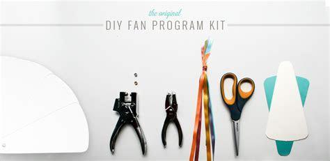 DIY Wedding Programs, Do it Yourself Fan Programs, DIY