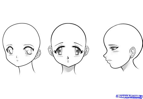 draw manga girls step  step anime heads anime