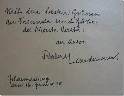 Robert Landmann - Monte Verita