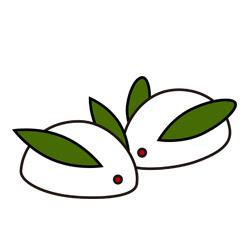 雪ウサギ 素材クリップアート 彩クリweb