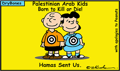 Dry Bones cartoon, Hamas. Palestinian, Arab, Israel, Gaza, Palestine,