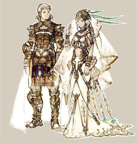 Rasler and Ashe Wedding Outfit Concept Art   Final Fantasy