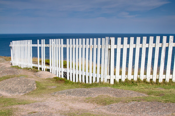 white picket fence at Cape Spear, Newfoundland