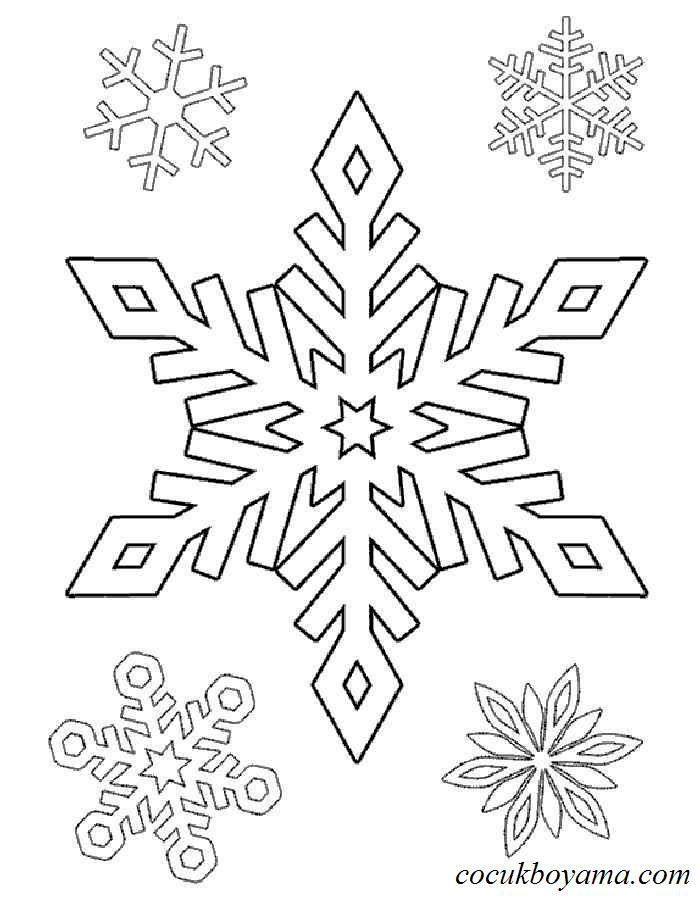 Kar Tanesi 10 ücretsiz Boyama Resimleri