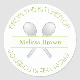 From The Kitchen Of: Green Sticker sticker