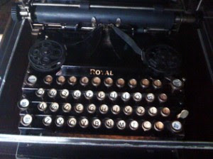T.E. Lawrence's typewriter at Clouds Hill – photo by Westrow Cooper
