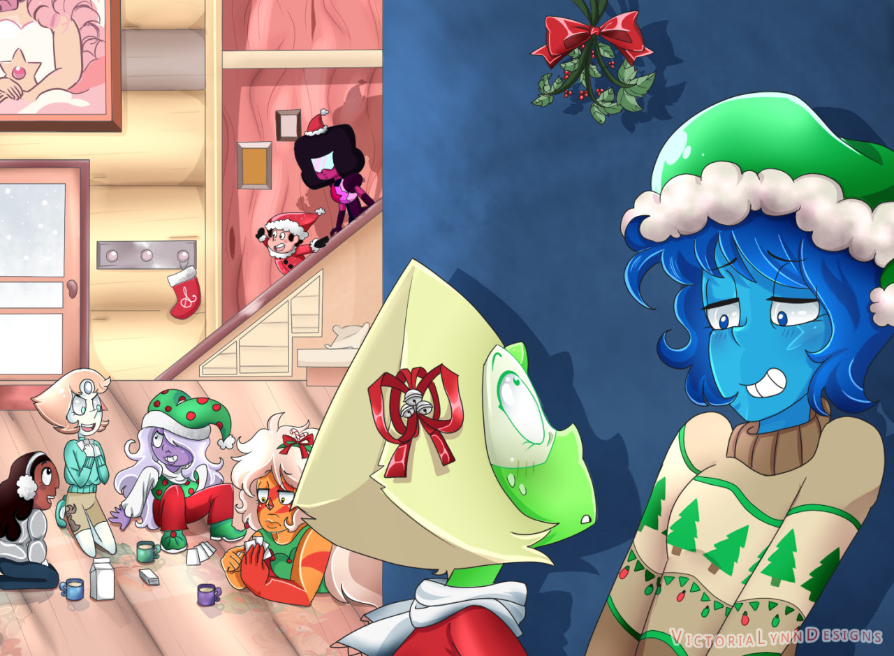 """Its beginning to look alot like Christmas!!! For the people who say """"Halloween was a few days ago.."""" SHH!! DONT RUIN IT FOR THE PEOPLE WHO ARE EXCITED!! It just means more Lapidot fanart..."""