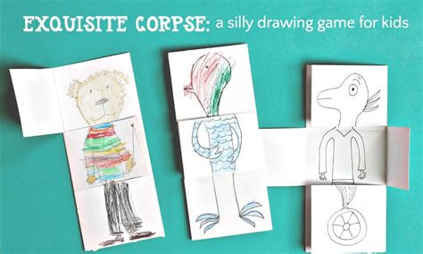 drawing game  kids exquisite corpse youtube