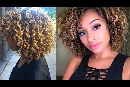 Blonde Highlights Men Curly Hair