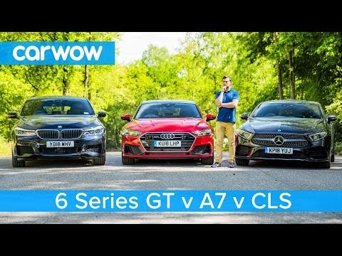 Mercedes CLS vs BMW 6GT vs Audi A7 - video