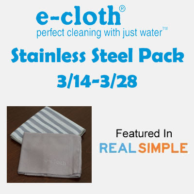 e-cloth Stainless Steel Pack Giveaway. Ends 3/28