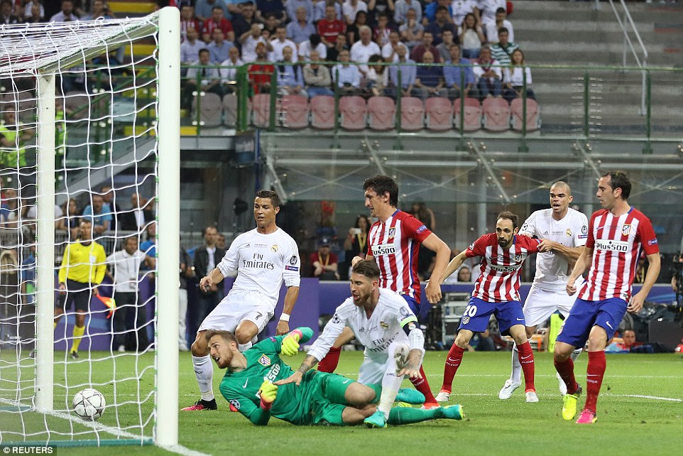 Ramos made it two goals in as many Champions League final appearances as the defender was once more the scourge of Atletico fans