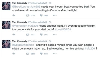 Tim Kennedy, Twitter (Foto: Reprodução)