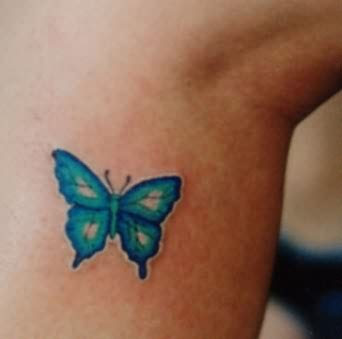 Little Blue Butterfly Tattoo
