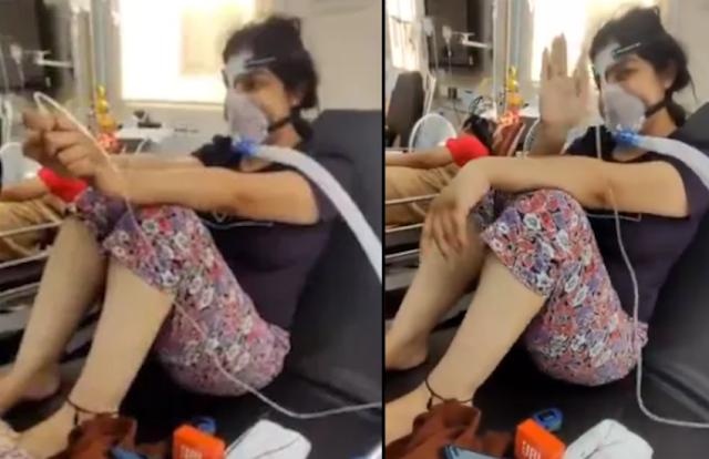 ऑक्सीजन मास्क लगाए कोरोना संक्रमित लड़की ने गाया 'लव यू जिंदगी गाना', पर हार गई कोरोना से जंग