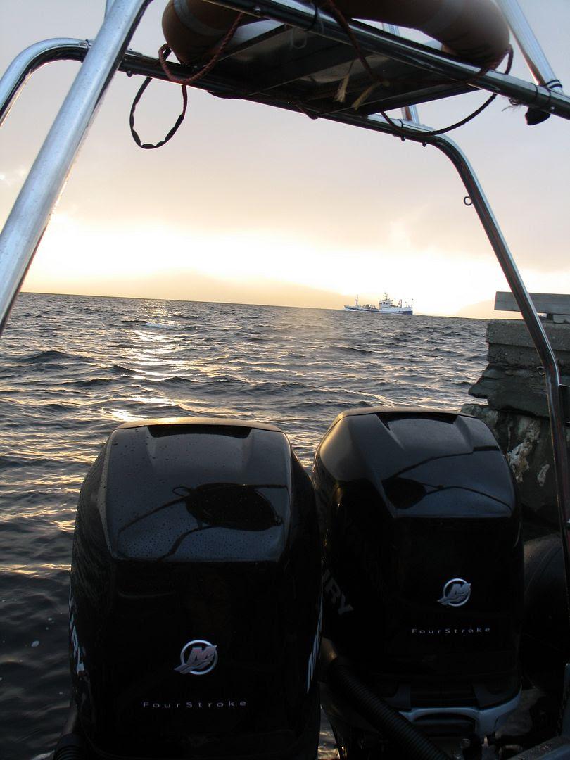 Brumm brumm - båten går opp mot 50 knop, ca 100 km/t