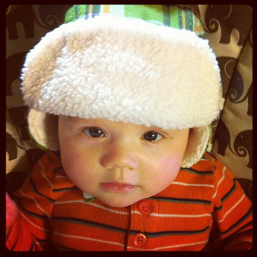 mini mountain man, ready for the great outdoors!