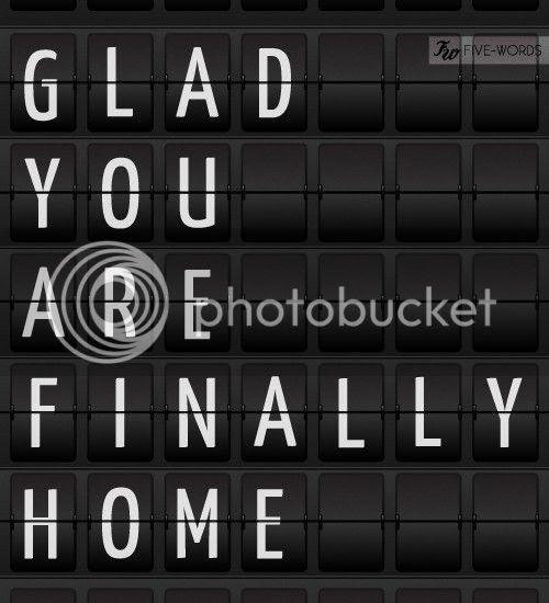 via five words glad you are finally home, http://www.five-words.com.au/