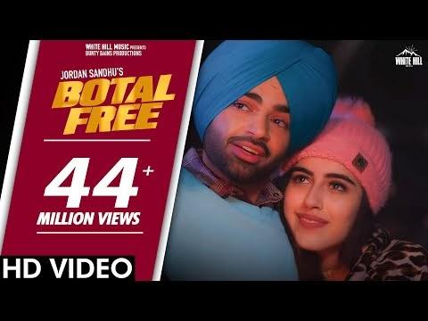 Botal Free Lyrics in Hindi - Jordan Sandhu ft. Samreen Kaur