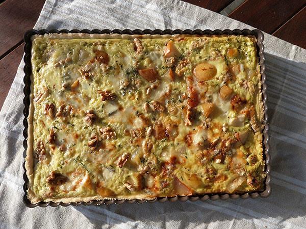 tarte poire noix et gorgonzola