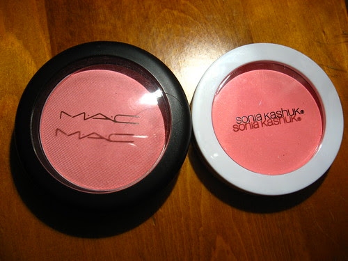 MAC Lovecloud versus Sonia Kashuk Flushed