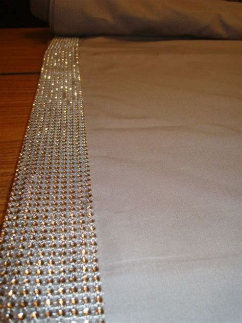 Wedding Aisle Runner with Rhinestone Border 20 Foot