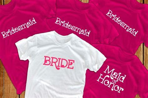 Bride shirts (5) bridal party bridesmaid gift for bride to