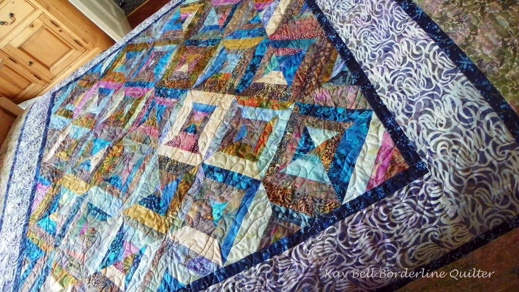 Anne's beautiful batik quilt