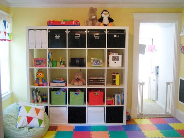 Kerry's Papercrafts jigsaw flooring child's room cube storage